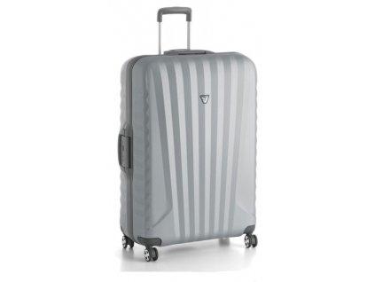 164338 4 cestovni kufr roncato uno sl l stribrna