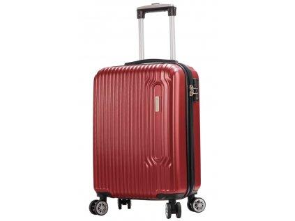 173692 5 cestovni kufr snowball 4w abs s cervena