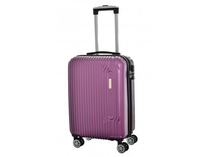 173368 7 cestovni kufr snowball 4w abs s fialova