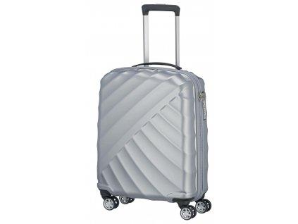 167350 4 cestovni kufr titan shooting star 4w s silver