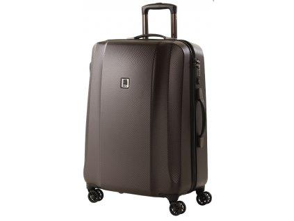 164581 4 cestovni kufr titan xenon deluxe m brown