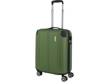 167374 6 cestovni kufr travelite city 4w s green