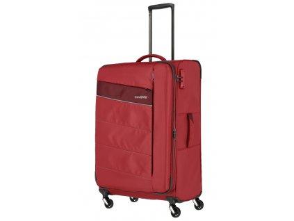173572 6 cestovni kufr travelite kite 4w l cervena