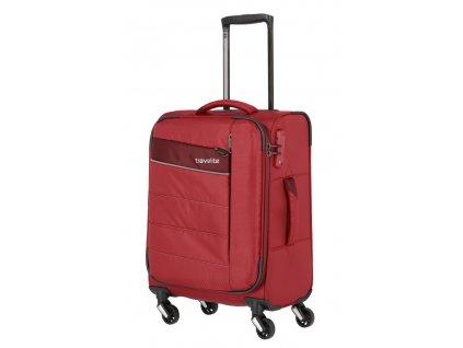 173566 5 cestovni kufr travelite kite 4w s cervena