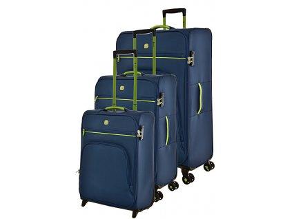 170701 1 cestovni kufry set 3ks dielle s m l blue