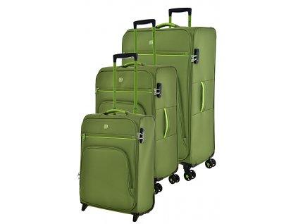 170707 1 cestovni kufry set 3ks dielle s m l green