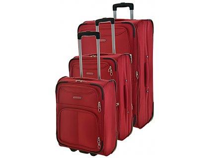 170758 1 cestovni kufry set 3ks madisson s m l red