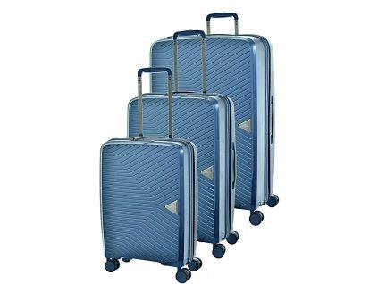 172537 1 cestovni kufry set 3ks march gotthard s m l orion blue metallic