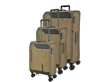170722 1 cestovni kufry set 3ks march stardust s m l khaki