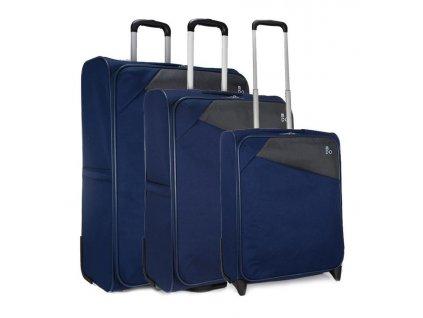 170821 1 cestovni kufry set 3ks modo jupiter s m l blue
