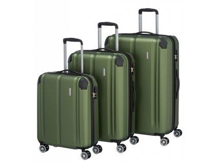 170863 1 cestovni kufry set 3ks travelite city s m l green