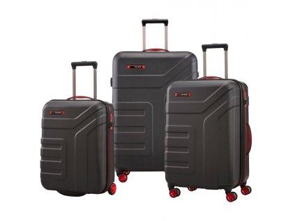 176116 1 cestovni kufry set 3ks travelite vector s m l cerna