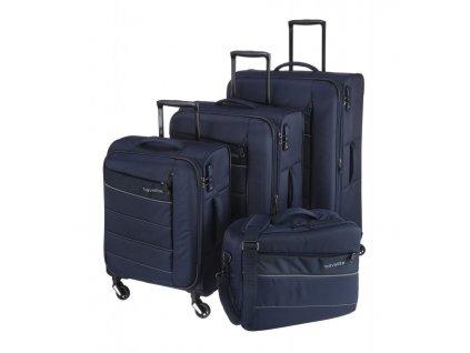 170890 1 cestovni kufry set 4ks travelite kite s m l b blue