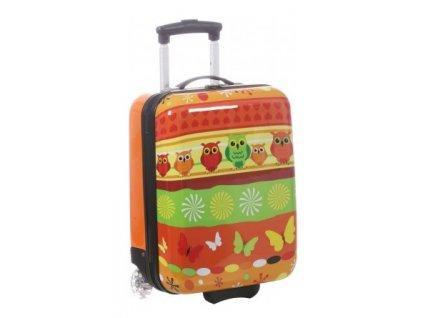 166309 5 detsky kufr snowball sovicky 2w sx oranzova