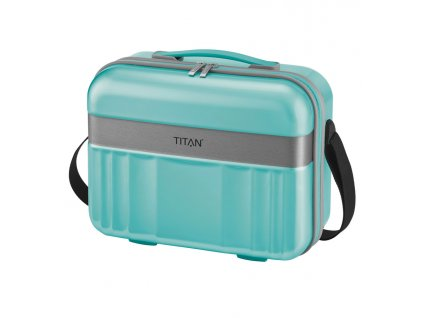175084 3 kosmeticky kufr titan spotlight polykarbonat tyrkysova
