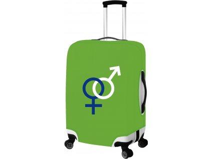 165166 2 obal na kufr l zelena
