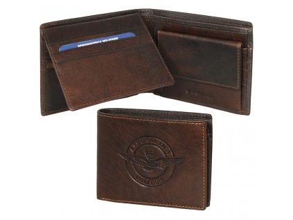 am123 porta fogli in pelle con divisorio porta carte di credito e porta spicci moro marrone 1024x1024