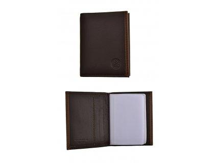 184831 pouzdro na vizitky carraro binding brown