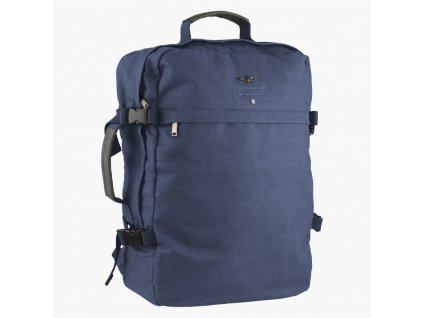 zaino cabina in canvas City blu