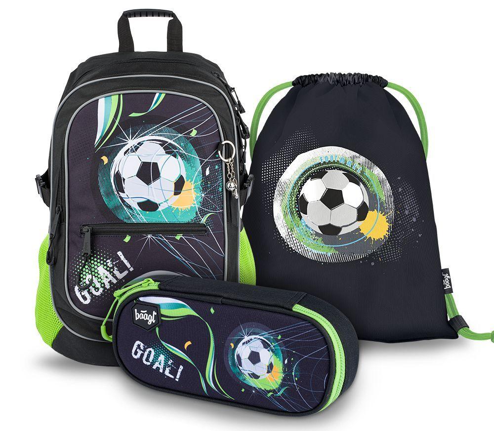 Baagl Školní set Fotbal A-8901 25 L černá