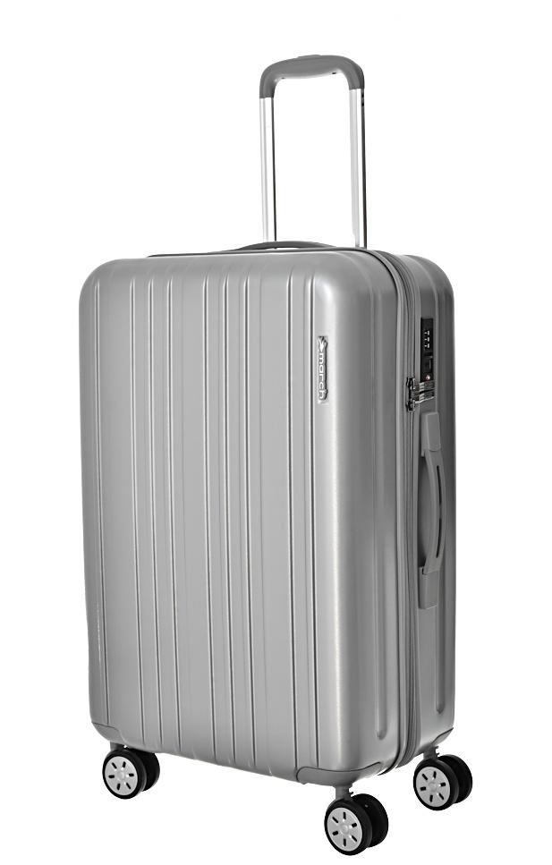 Cestovní kufr March Omega M 0400-62-08 71 L stříbrná