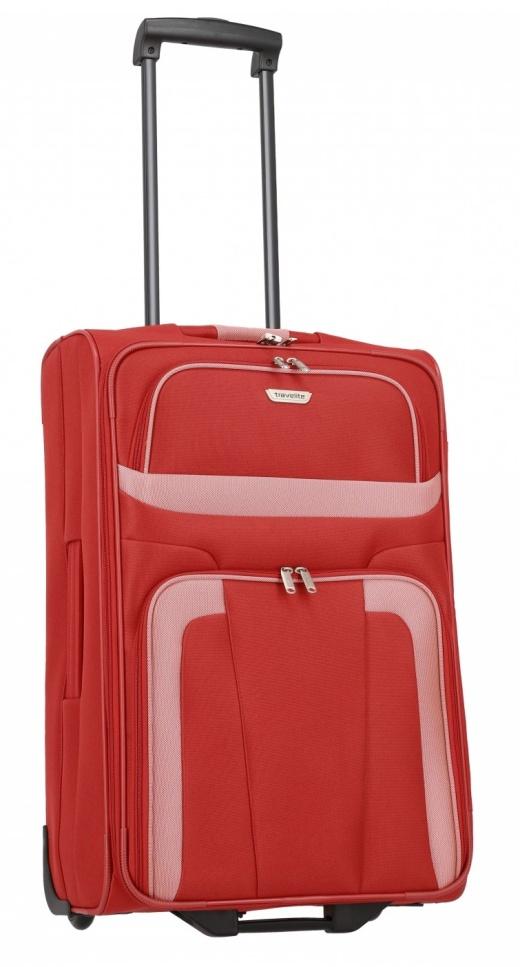 Cestovní kufr Travelite Orlando M 98488-10 58 L červená