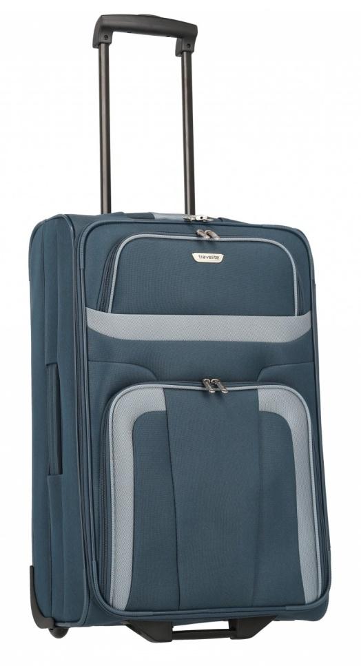 Cestovní kufr Travelite Orlando M 98488-20 58 L modrá
