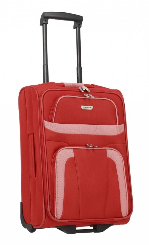 Cestovní kufr Travelite Orlando S 98487-10 37 L červená