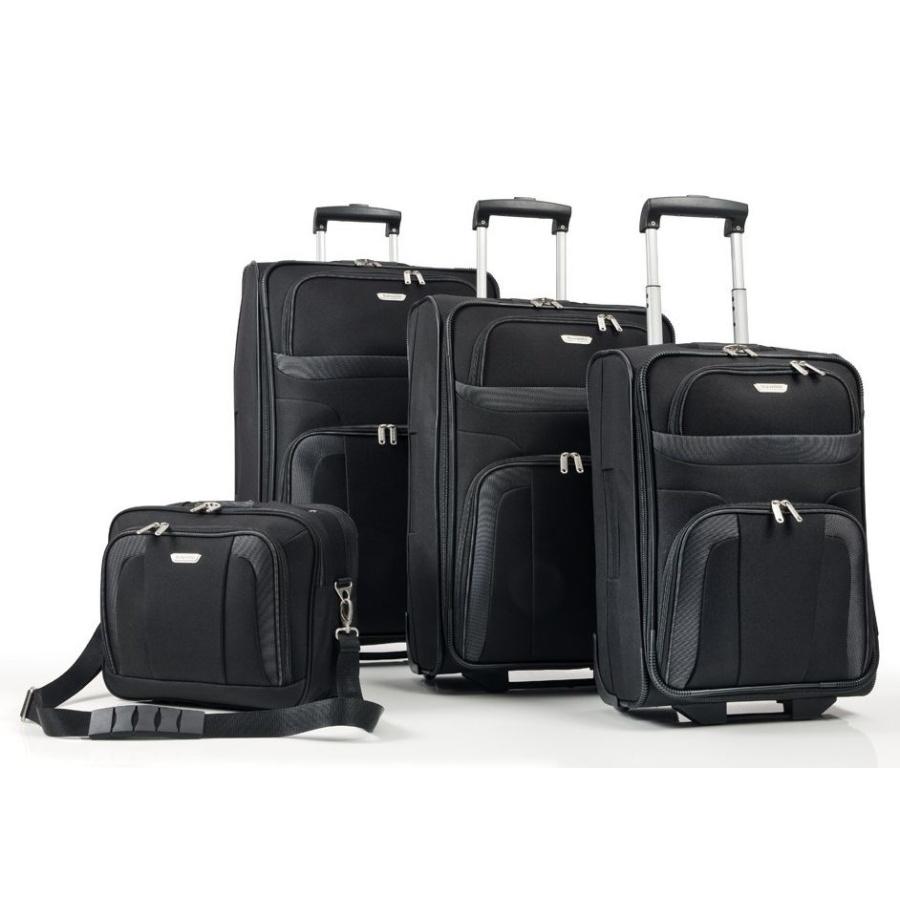 Cestovní kufry set 4ks Travelite Orlando S,M,L,B 98480-01 193 L černá