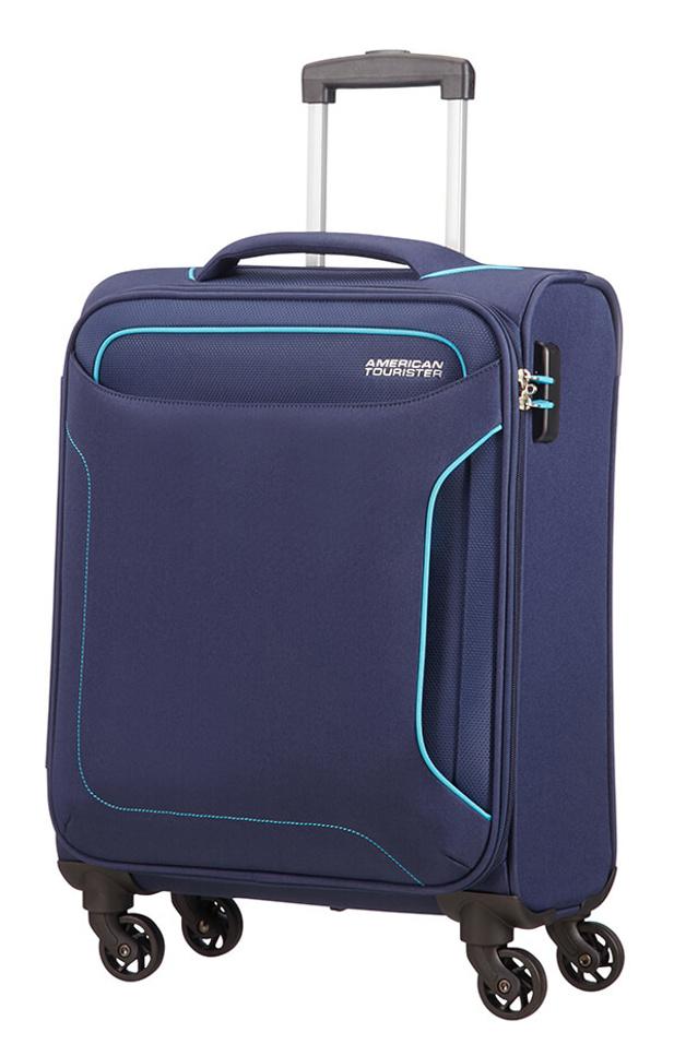Cestovní kufr American Tourister Holiday Heat 4w S 50G004-41 38 L modrá
