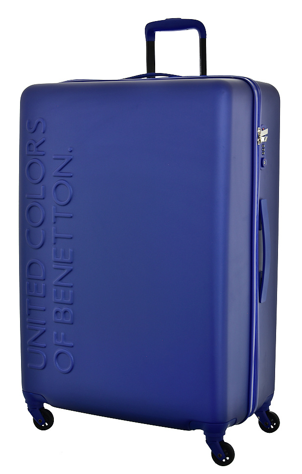 United Colors of Benetton Cestovní kufr Benetton UCB 4w L 8BBUC103-B33 100 L modrá