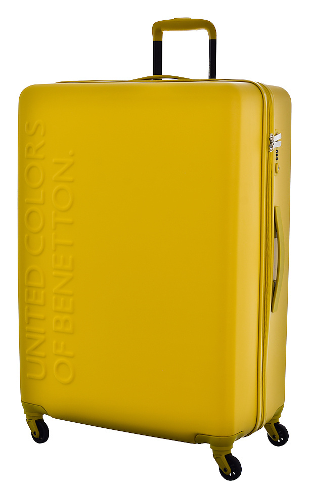 United Colors of Benetton Cestovní kufr Benetton UCB 4w L 8BBUC103-Y02 100 L Žlutá
