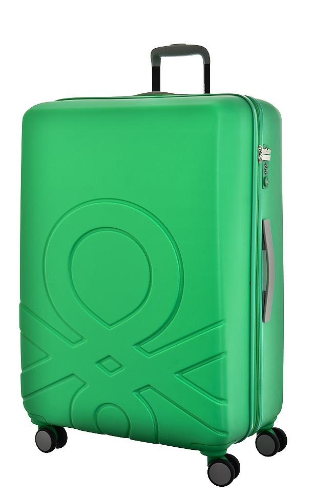 United Colors of Benetton Cestovní kufr Benetton ULTRA LOGO L 8BBUL103-G94 100 L zelená
