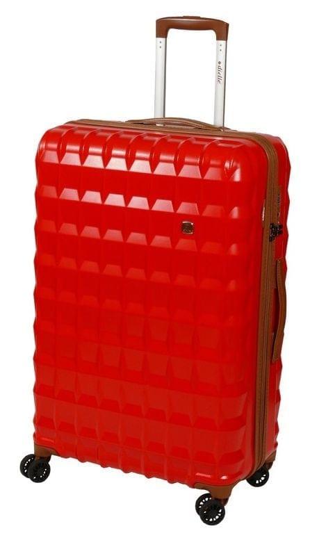 Cestovní kufr Dielle PP L 356-75-02 85 L červená