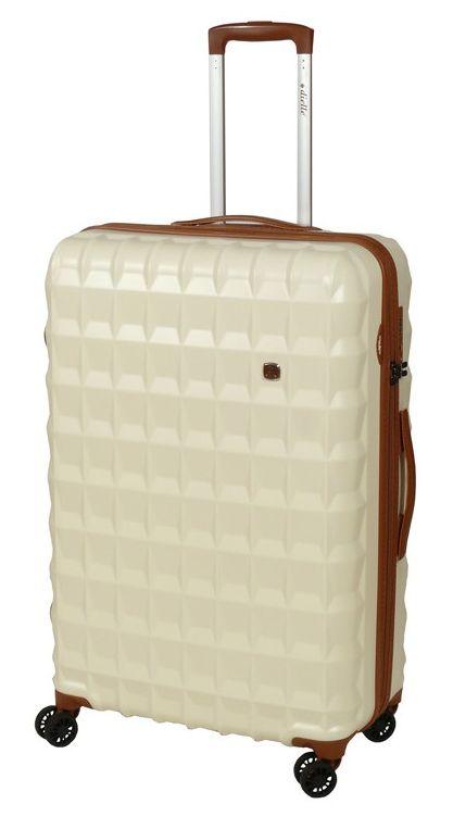 Cestovní kufr Dielle PP L 356-75-24 85 L krémová