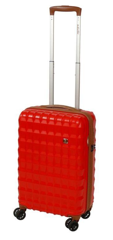 Cestovní kufr Dielle PP S 356-55-02 30 L červená