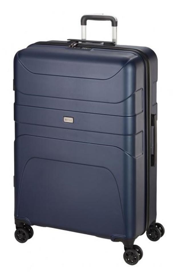 Cestovní kufr d&n 4W L 2170-06 100 L modrá