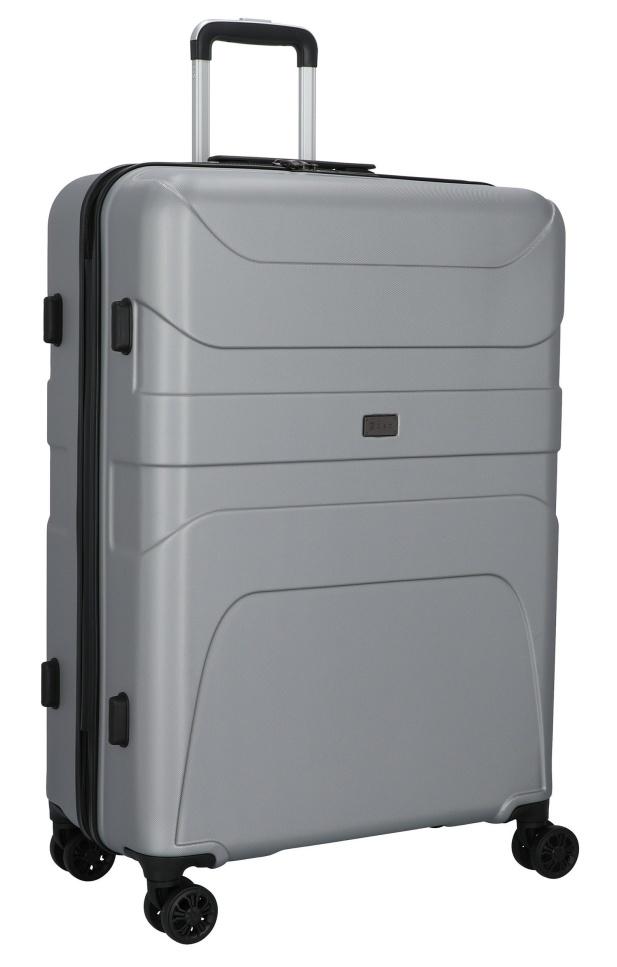 Cestovní kufr d&n 4W L 2170-13 100 L stříbrná