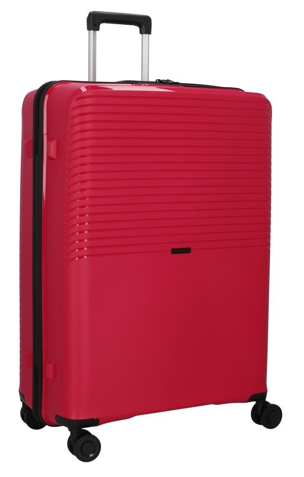 Cestovní kufr d&n 4W L PP 4070-04 100 L červená