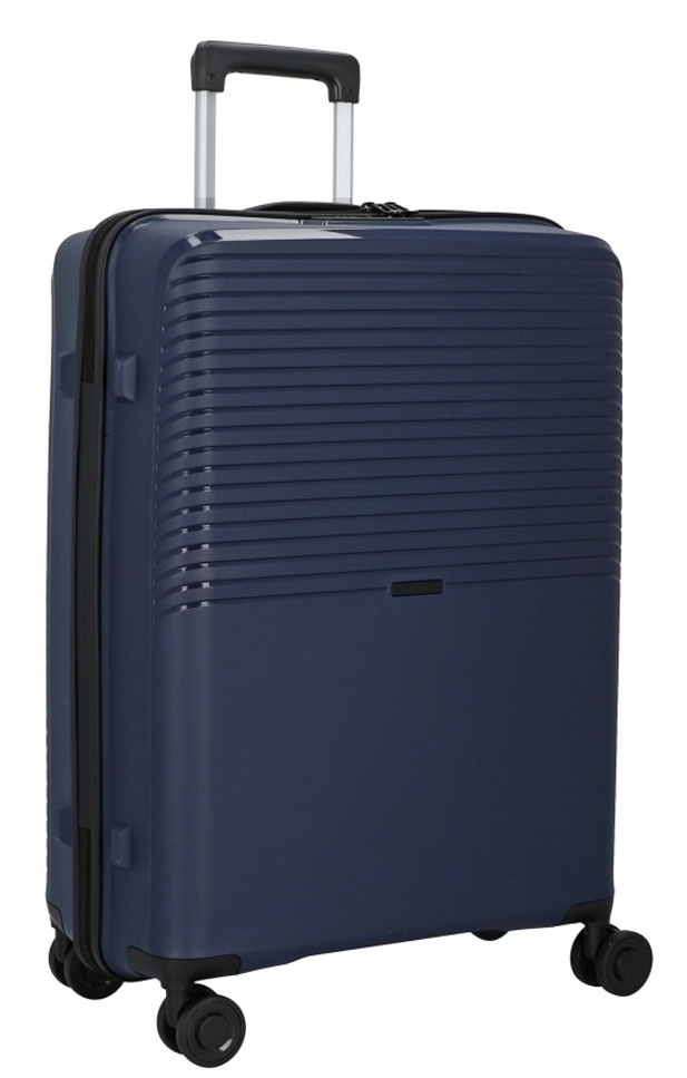 Cestovní kufr d&n 4W L PP 4070-06 100 L modrá