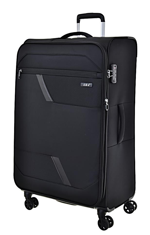 Cestovní kufr d&n L 7074-01 100 L černá