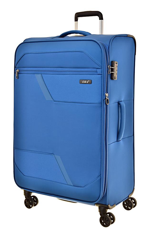Cestovní kufr d&n L 7074-06 100 L modrá