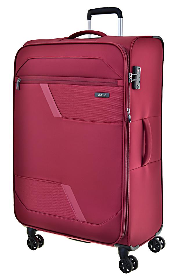 Cestovní kufr d&n L 7074-12 100 L červená