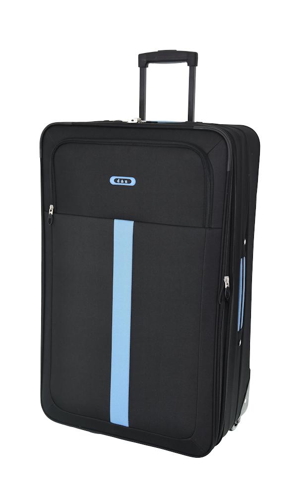 Cestovní kufr d&n L 9370N-01 černá