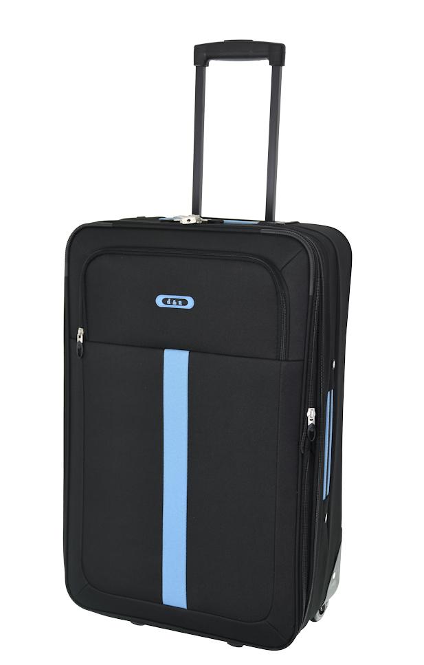 Cestovní kufr d&n M 9360N-01 52 L černá