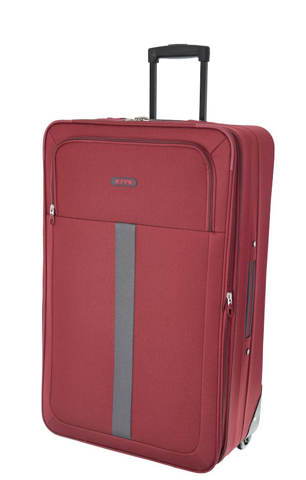 Cestovní kufr d&n M 9360N-12 52 L červená