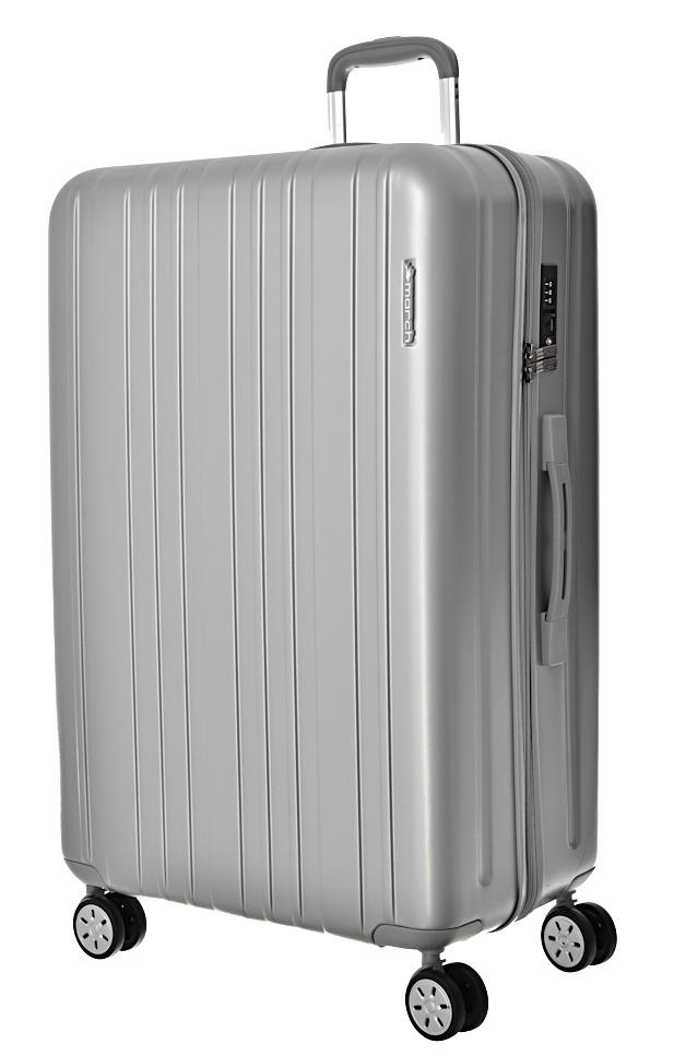 Cestovní kufr March Omega L 0400-72-08 119 L stříbrná
