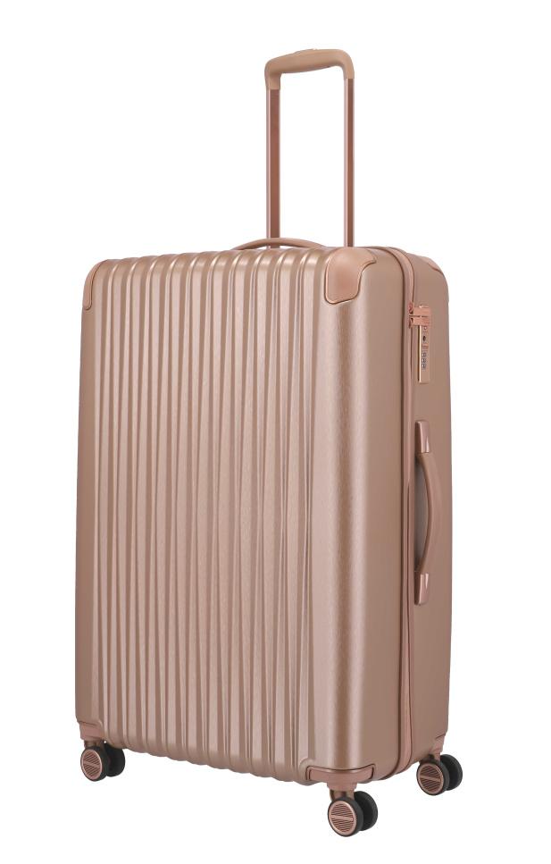 Cestovní kufr Titan Barbara Glint L 845404-15 100 L růžová