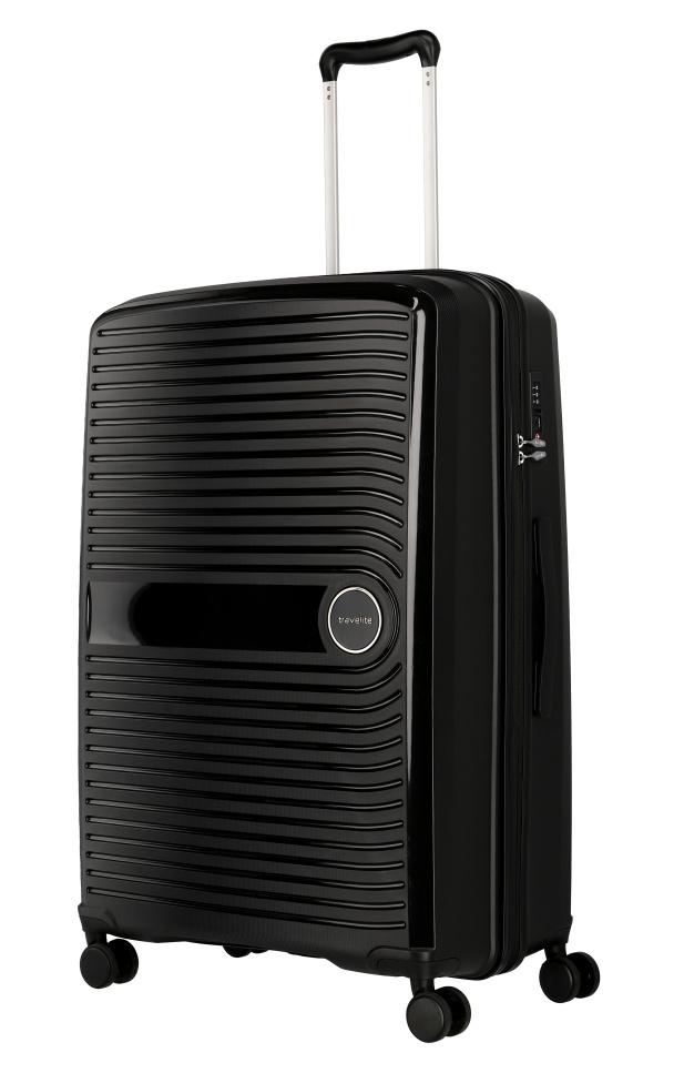 Cestovní kufr Travelite CERIS w4 L 75649-01 100 L černá