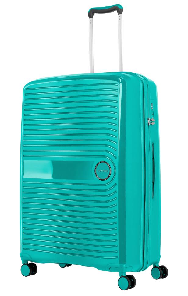 Cestovní kufr Travelite CERIS w4 L 75649-80 100 L zelená